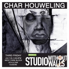 MEET THE ARTIST: Char Howeling draws traditional and abstract figures with pencil, charcoal, and digital media. She specializes in digital painting, vector graphic, and branding. She's also exploring animation using After Effects. houwelingdesign.com #houwelingdesign #charhoweling #artcityeugene #artcity #studiowithoutwalls #eugfun #eugeneoregon #eugeneartist #eugenejuly202018 #eugeneculturalservices