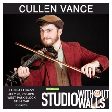 MEET THE ARTIST: Cullen Vance is a live looping, left handed, electric violinist and beatboxer who makes music with Celtic and middle eastern influences. All the sounds he creates are made and looped completely live with no pre-recorded tracks making for a musical performance that is always 100% present and in the moment. CullenVanceCreative.com #cullenvance #cullenvancecreative #artcityeugene #artcity #studiowithoutwalls #eugfun #eugeneoregon #eugeneartist #eugenejuly202018 #eugeneculturalservices