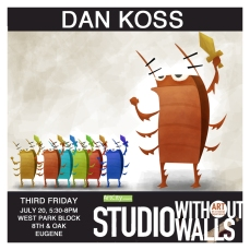 MEET THE ARTIST: Dan Koss does animation, character design, storyboarding, and concept art. All of his art is geared toward cartoon animation and video game work. kossarts.com #dankoss #kossarts #artcityeugene #artcity #studiowithoutwalls #eugfun #eugeneoregon #eugeneartist #eugenejuly202018 #eugeneculturalservices