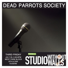 MEET THE ARTIST COLLECTIVE: Dead Parrots Society is a poetry collective that writes poetry around common prompts. They workshop their poems with one another in order to prepare them for performance and potential publishing opportunities. Through their collective work, they have developed multiple unique poems around common themes that vary dramatically based on their unique voices and life experiences. #deadparrotssociety #poetrycollective #artcityeugene #artcity #studiowithoutwalls #eugfun #eugeneoregon #eugeneartist #eugenejuly202018 #eugeneculturalservices